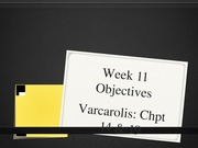 Week 11 Objectives