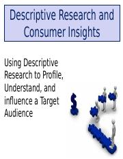 Class Notes M Descriptive Research and Target Audience Profiles.ppt