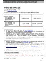egyptian university grading course syllabus pdf