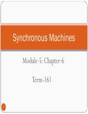 161-EE-306-Sychronous Machines