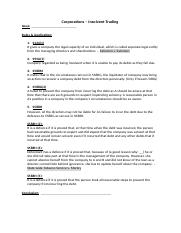 Corporation - insolvent trading.docx