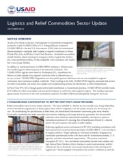 USAID-OFDA Logistics and Relief Commodities Sector Update - October 2013