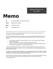 Memo-instructions