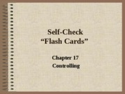 Self Check Chapter 17