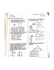 Chapter Seven Test Triangle Length