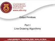 Lecture05 - Output Primitives (Part I)