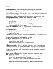 Human Rights Midterm 2 Study Guide