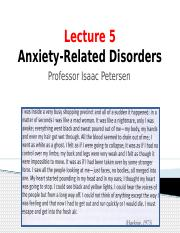 Lecture 5 Anxiety-Related Disorders_ICON
