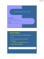 CSF3102 - 2 Introduction to Java