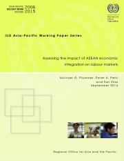Assessing the impact of ASEAN economic integration on labour markets