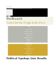 Political Party Quiz