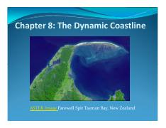 Ch.8 The Dynamic Coast