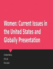 Women current issues presentation