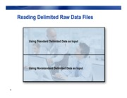 Reading Delimited Raw Data Files