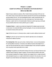 Missouri v. Lumpkin Case Brief