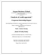 102326408-Summer-Internship-Project-Report-on-Analysis-of-Credit-Appraisal-at-Bank-of-India