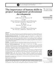 The importance of human skills in.pdf