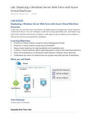 Lab - Deploying a Windows Server Web Farm with Azure Virtual Machines.pdf
