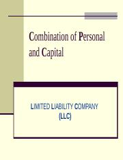 L-9--III-Limited Liability Company.ppt