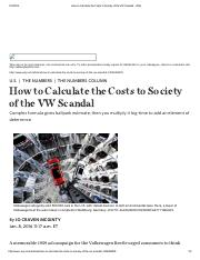 How to Calculate the Costs to Society of the VW Scandal - WSJ.pdf