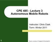 Lecture 3 - Uncertainty in robot motion (odometry)
