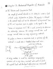 Lecture Notes - Chapter 3 - Mechanical Properties of Materials