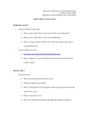 April 27-May 9 Lecture Notes