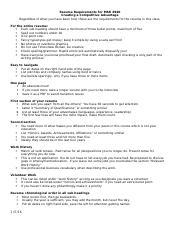Resume Requirements for MAR 4940.docx