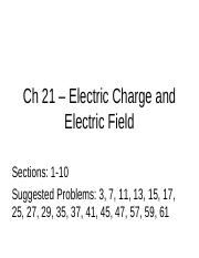Ch 21 – Electric Charge and Electric Field(2).ppt