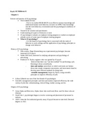 PSYC142 midterm 1 study guide