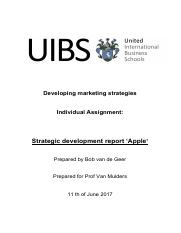 Strategic developtment report (Apple).pdf