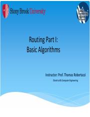 Routing Part I (Basic Algorithms) - NOTES