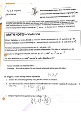 Variation and Rational Functions Worksheet