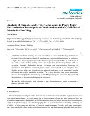 Analysis of Phenolic and Cyclic Compounds in Plants Using Derivatization Techniques in Combination w