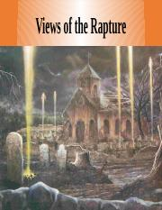 Lecture 37- Views of the Rapture