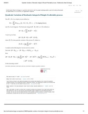Quadratic Variation of Stochastic Integral of Simple Predictable process