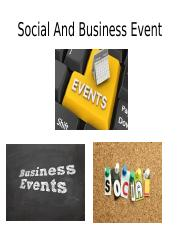 Social And Business Event