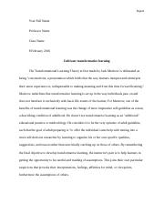 Transformational Learning Theory by Jack Mezirow.docx