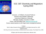 EE 307 Chapter 6 - Electrostatic Boundary Value Problems