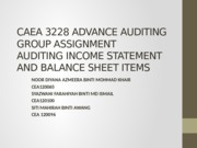 CAEA 3228 ADVANCE AUDITING investment property