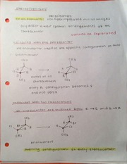 CHM 110 Stereoisomers and pKa chart notes