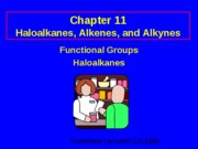 Functional Groups and Haloalkanes