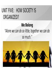 UNIT FIVE (How Society is organized).pptx