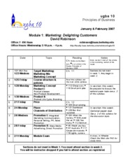 Module 1 Syllabus (Marketing)