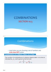 Complete notes -Combinations