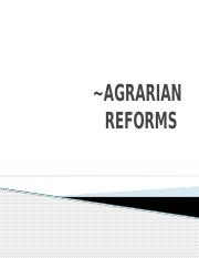 AGRARIAN REFORMS.pptx