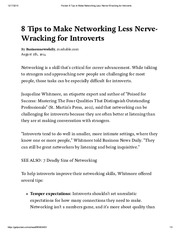 Pocket_ 8 Tips to Make Networking Less Nerve-Wracking for Introverts