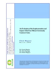 Report - Evaluation of the EAC-CU
