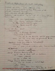 Light and Lighting Notes