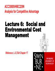 ACC30009_Lecture6_Social&EnvironmentalCostMgt (Students) - Copy